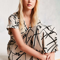 Cooperative Liza Printed Babydoll Shirt Mini Dress - Urban Outfitters