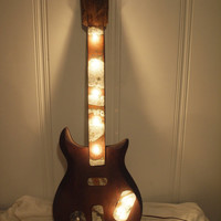 Vintage guitar light fixture reclaimed Gretsch by InTheWriteHands