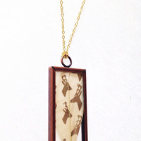 Pressed Deer feather necklace