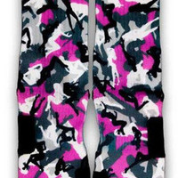 Stripper Camo Nike Custom Elite Socks