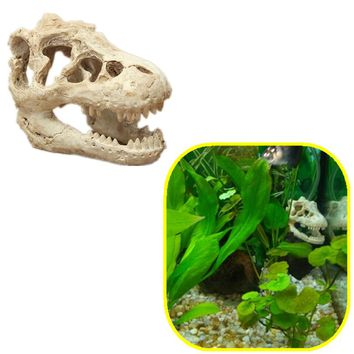 8.5x5.5X4.5cm Fish Tank Aquarium Halloween Aquarium Decorative Resin Skull Crawler Dragon Lizards Decoration Ornaments D6