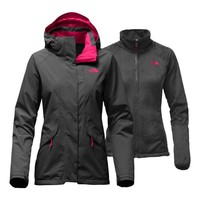 The North Face Boundary Triclimate Jacket for Women in Asphalt Grey NF0A2TDL-MLM