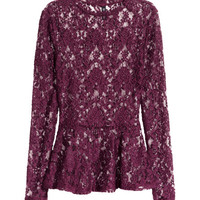 Lace Peplum Top - from H&M