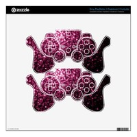 Beautiful Pink glitter sparkles Sony PlayStation 3 Dualshock 3 Controller skin by PLdesign