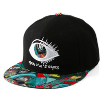 Korean Lovely Cartoons Embroidery Hip-hop Baseball Cap Couple Hats [4917647044]