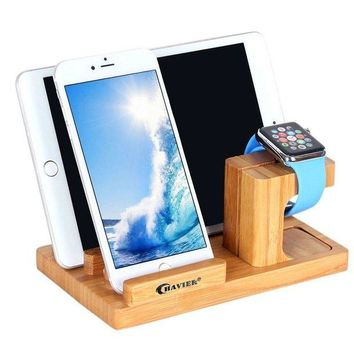 VONL8T Apple Watch Stand,BAVIER Bamboo Wood Charge Dock,Charge Dock Holder,Bamboo Wood Charge Station/Cradle for Apple Watch,iPhone,smartphone,iPhone iPad and Smartphones and Tablets (Bamboo Wood B1)