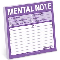Mental Note Sticky Notepad