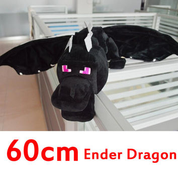 High Quality 60cm Minecraft Ender Dragon Plush Minecraft Toys enderdragon PP cotton stuffed minecraft dragon kids toys