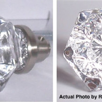 Old Town 6 Point CRYSTAL Door Knobs! These Knobs are Very BEAUTIFUL!