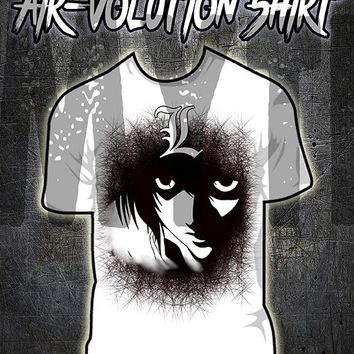 B110 custom personalized airbrush Death Note L Tee Shirt Anime