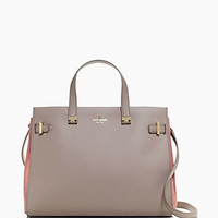 Kate Spade New York Parker Street Suede and Leather Aisley Satchel