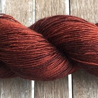 Hand Dyed Yarn - Copper - Bluefaced Leicester Wool - Fingering Yarn 100gr