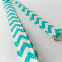 Aqua Lanyard Mint Green Chevron Lanyard Teacher Lanyard Chevron Key Teal Chevron Lanyard Teacher Key Ring Nurse Chevron Lanyard