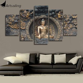 HD Printed Buddha statue Painting wall art  room decor print poster picture canvas Free shipping/ny-1195