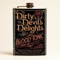 Theatre Bizarre Dirty Devil Delight Flask