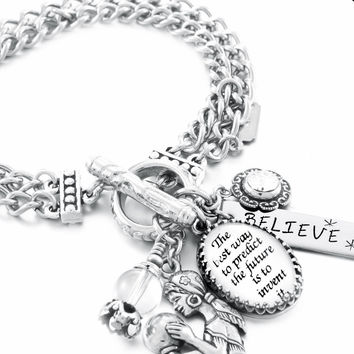 Inspirational Charm Bracelet, Predict the Future