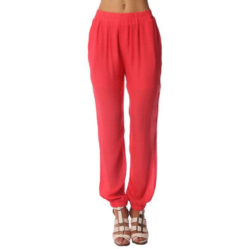 Preppyco Red Flowy Pants
