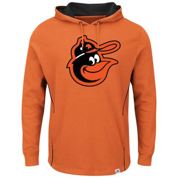 Baltimore Orioles Majestic Cooperstown  Pullover Hoodie - orange