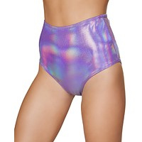Holographic High Waist Rave Shorts
