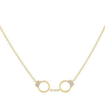 Diamond Handcuff Necklace 14K