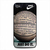 just do it basketball just do it and passion For iphone 4 and 4s case