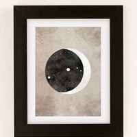 Claire Goodchild Moon & Stars Aries Art Print