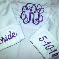 Monogrammed Button Up Perfect BRIDAL Party Gift