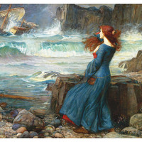 John William Waterhouse, Miranda, 1916 - Poster Paper, Sticker or Canvas Print
