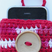 Free Shipping in U.S.A - Striped Hype - Small Cell Phone Case - Cell Phone Holder - Cell Phone Cozy - Apple - Samsung - Android - Sony