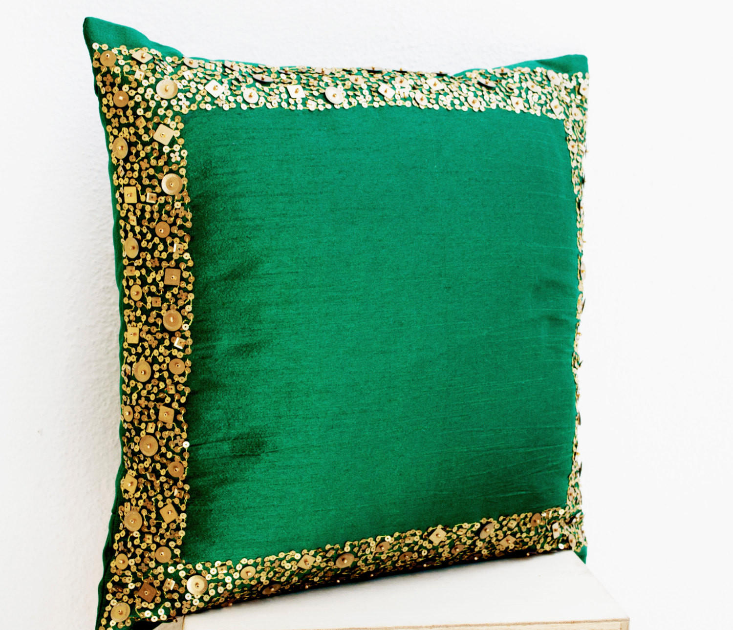 Throw Pillows - Emerald green cushion from casaamore-internationa