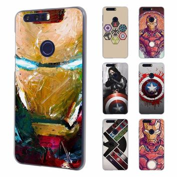 the avengers ironman captain america Style Ultra Thin phone case for Huawei honor 8 lite V8 7 case for Honor 4C 5C 4X 5X