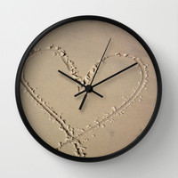 Beach Wall Clock by Camille Renee