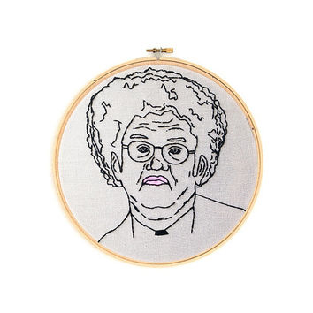 "Dr. Steve Brule Tim and Eric 6"" Embroidery Hoop Wall Hanging Wall Art"