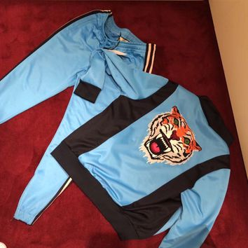 GUCCI Tiger patch Technical jersey jacket / Technical jersey jogging pant Gucci Two-Piece