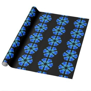 Blue Petals Wrapping Paper