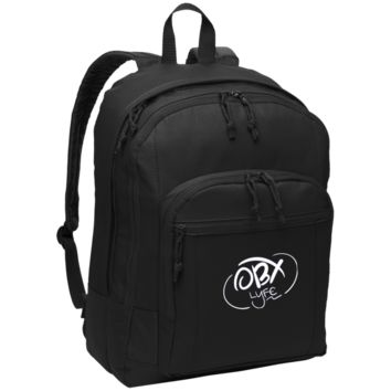 Embroidered Cloud White OBX Lyfe Port Authority Basic Backpack