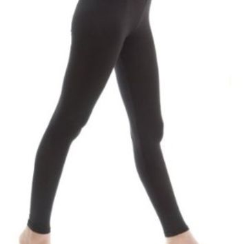 "Zenana Outfitters Women's Cotton Spandex Jersey Legging 26.5"" Length medium Black"