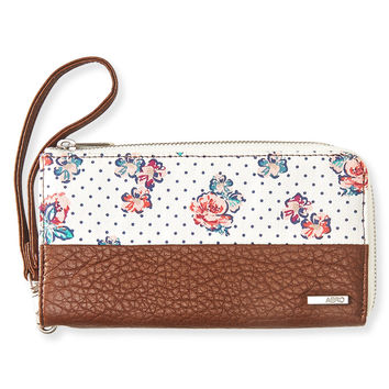 Floral Zippered Wallet