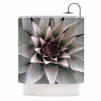 "Suzanne Carter ""Succulent"" Green Black Shower Curtain"