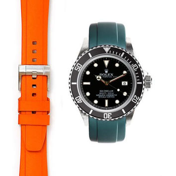 Everest Curved End Rubber with Tang Buckle for Rolex Sea-Dweller 4000