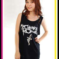 My Chemical Romance MCR Black Parade Rock Tank Top Tunic T Shirt Women S, M, L
