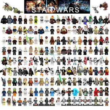 Single Sale Legoing Star Wars Building Block Han Solo Luke Darth Vader Yoda Leia R2D2 Toys Compatible Legoingl Starwars Figures