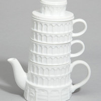 Leaning Tower of TEAsa, Tea for 2 Set | Pisa Tea Set | fredflare.com