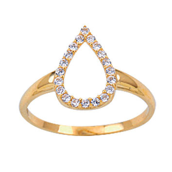 Rain Drop 14k Solid Gold Ring