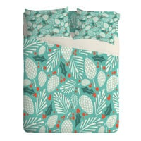 Heather Dutton Winter Woodlands Sky Sheet Set Lightweight