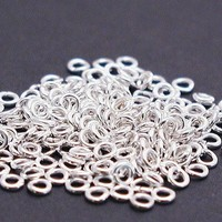 100 Smooth Bright Silver 3mm jump rings JR 012