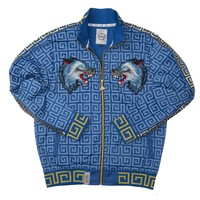 TWIN WOLF PATCH & RIBBED TRACK JACKET
