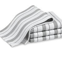 Williams Sonoma Classic Striped Dishcloths, Drizzle Grey