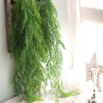 Artificial plants long pine needles soft imitation vine rattan home decorative plant wall decoration