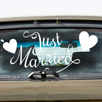 Just Married & Hearts